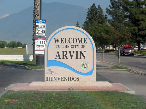 Arvin City Welcome Sign