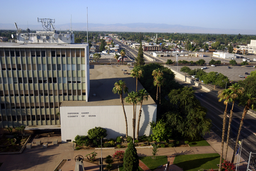 Bakersfield: Downtown Aerial View