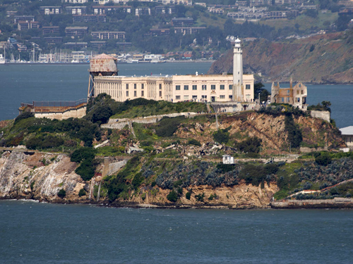 Alcatraz Island in San Fracisco Bay