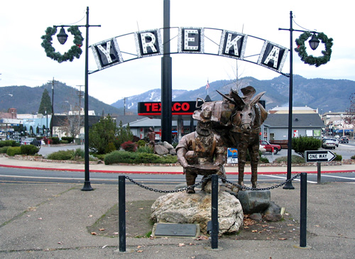 Yreka, California Goldminer Statue